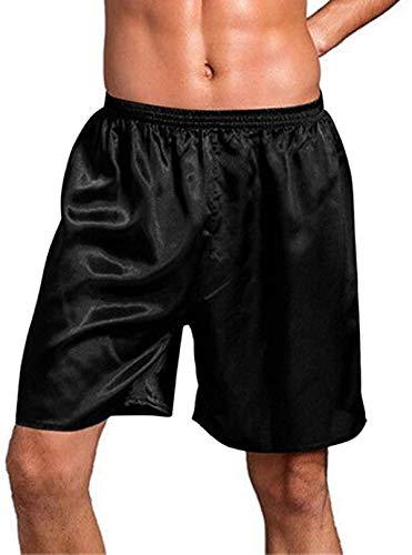 Tammy W Nash Men's Satin Boxer Shorts Silk Pajama Shorts & Sleep Shorts Sleepwear Boxers Underwear Beach Shorts Pyjamas Nightwear