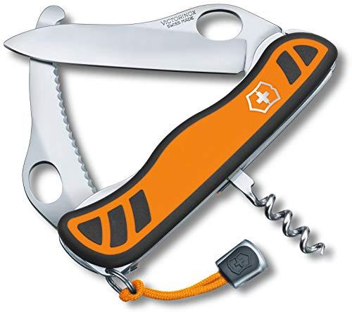 Victorinox Taschenmesser Hunter XS Grip (5 Funktionen, Feststellbare Waidklinge, Hervorragender Griff) orange/schwarz