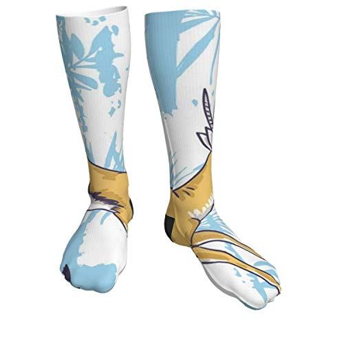 Leopard Cheetah Athletic Crew Calcetines para hombres y mujeres, calcetines gruesos para correr, vuelo, viajes, montañismo