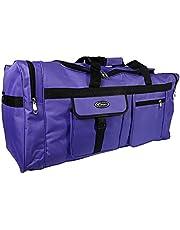 Grote sporttas, XL, 110 l, voor sport, fitnessstudio, reizen, camping, opslag, waterdicht, violet