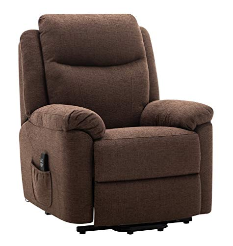 Morris Living Oxford Riser Recliner/Lift & Tilt Chair in Soft Chocolate Fabric with USB charging