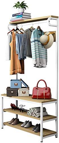 YLCJ Floor Coat rack Coat rack Coat rack Hanger bank Gecombineerde kapstok Slaapkamer opbergkaprek (Maat: 175 en keer; 100 cm)