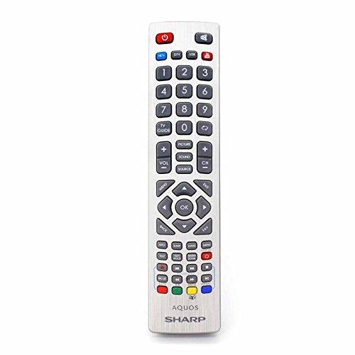 Universal Fernbedienung für Sharp Smart TV with YouTube 3D and NET+ Buttons - Mit Zwei 121AV AAA Batterien enthalten