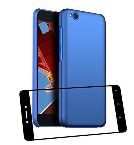 UCMDA Funda Xiaomi Redmi Go con Protector de Pantalla, Carcasa Duro Redmi Go con Cristal Templado - Azul