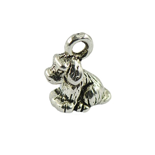 joyMerit Wholesale 50pcs 3D Dogs Pendants Charms for Bracelet Necklace Bag Decoration