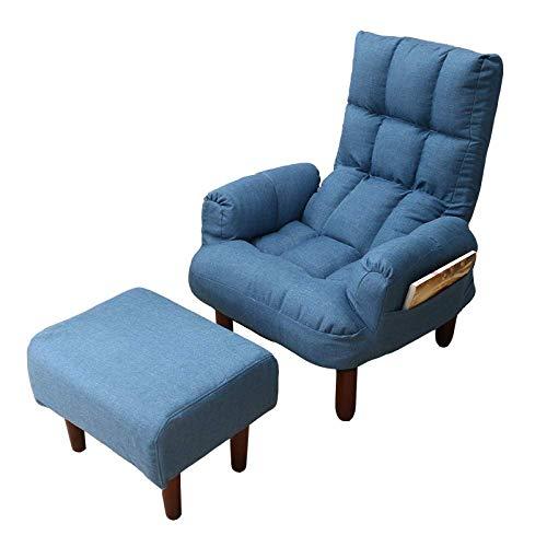 Stof van de Stoffering Sofa Fauteuil Living Room Furniture Folding Recliner achteruithellende Arm Stoel van het Accent met de Houten Benen