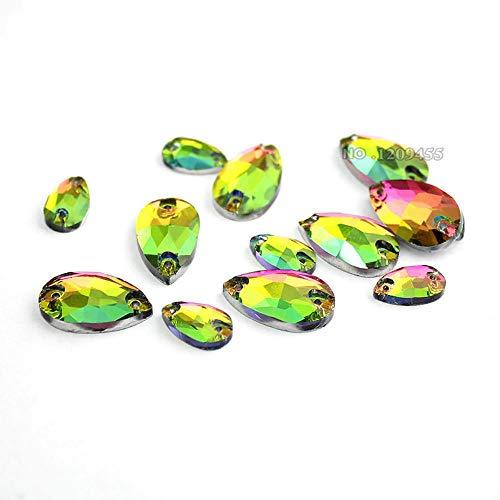 12-18mm Naaien Op Klauw Strass Glas Kristal Naaien Stenen Regenboog Voor Bruiloft Jurk Decoratie, Voor Kleding Jurk Tassen
