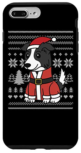 iPhone 7 Plus/8 Plus Cartoon Border Collie Funny Dog Christmas Gift Case
