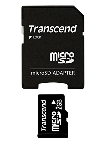 Transcend Micro SD 2GB geheugenkaart met SD-adapter