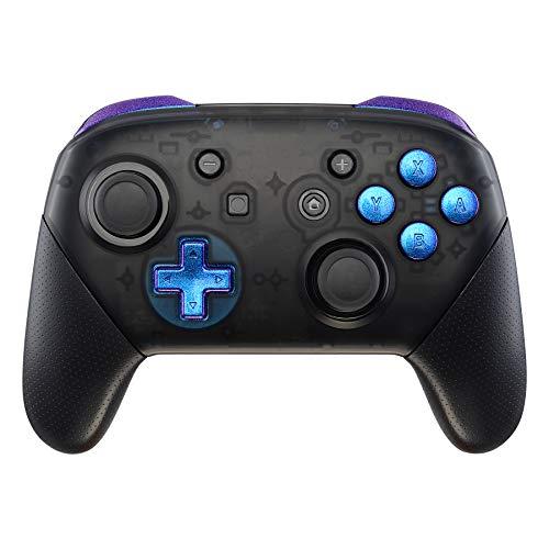 eXtremeRate ABXY D-Pad ZR ZL L R Botones para Mando Nintendo Switch Pro DIY Teclas de Reemplazo Botón Completo con Herramientas para Nintendo Switch Pro-Controlador NO Incluido(Azul a Violeta)