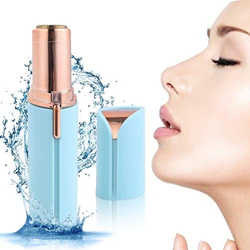 Depiladora Facial-Cejas Mujer Electrica,última versión impermeable portátil indolora recargable USB mejorada,luz LED incorporada adecuada para mejillas labios,mentón y cuello(azul cielo)