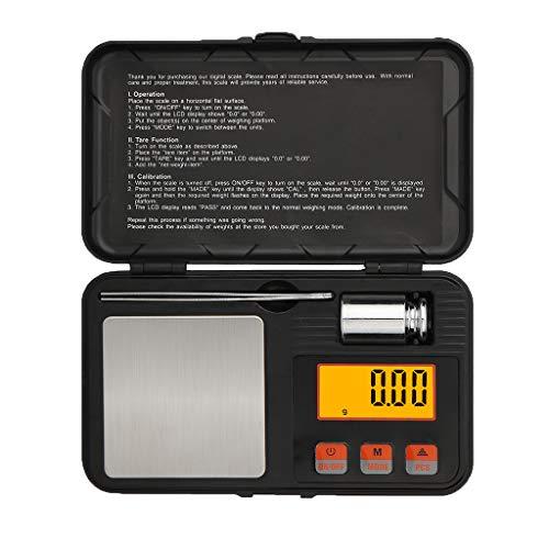gazechimp Mini 200g / 0,001 Balança Digital De Joias Balança De Grama De Cozinha Peso De Alimentos Amplo - 0,001g