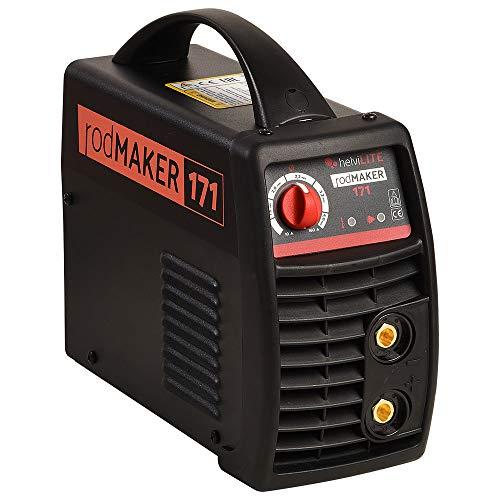 helviLITE 99805998 Saldatrice Inverter RodMaker 171 + Kit Valigetta 230V, Nero, 160...