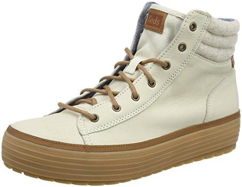 Keds Damen High Rise Lea Wool Chelsea Boots, Elfenbein (Cream), 37 EU