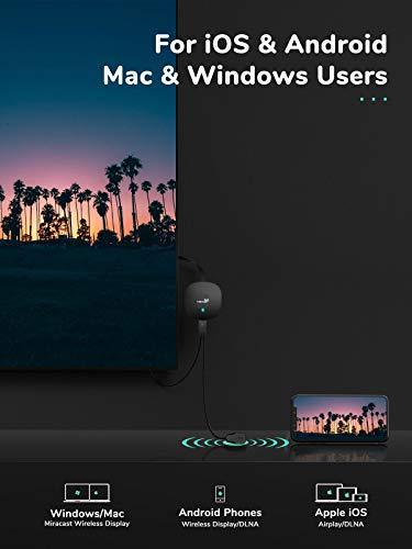 Yehua Wireless Display Dongle 4K Wireless HDMI Adpater WiFi Display Empfänger Unterstützung Miracast Airplay DLNA für Android / Smartphone / PC / TV / Monitor / Projektor