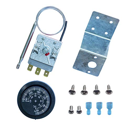 LITROK Adjustable Electric Radiator Fan Thermostat Controller Liquid Expansion Type Temperature Control Switch