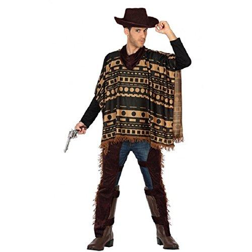 Atosa-29017 Cowboy Disfraz Vaquero Xl, color marrón, (29017)