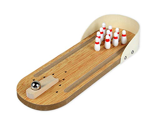 Find Discount DS.DISTINCTIVE STYLE Mini Bowling Game Desktop Mini Bowling Set with Lane Tabletop Woo...