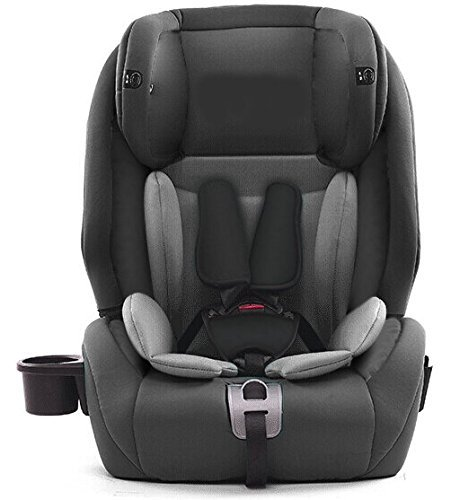 Star Ibaby City Fix HQ 668 SPS - Silla de coche Isofix grupo 1 2 3, Color Gris (Black Grey) ⭐