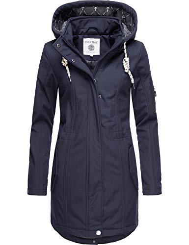 Peak Time Damen Softshell Mantel L60013 Blau020 Gr. XXL