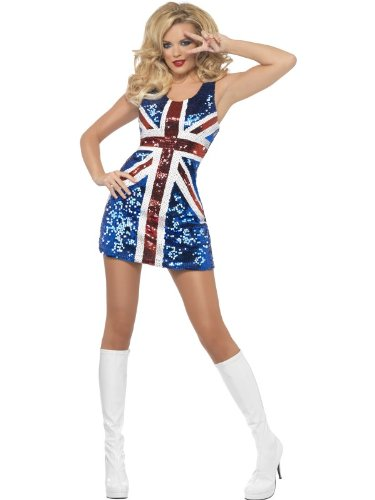 Smiffys Fever All that Glitters Rule Britannia Costume