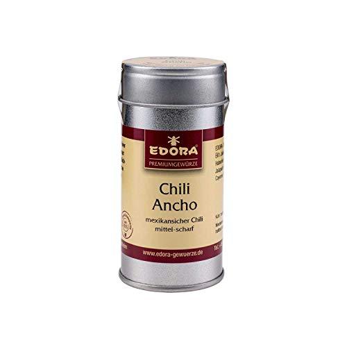 Premium Qualität Gewürz EDORA Streudose Streuer Chili Ancho Mexikanisch mild Schärfegrad 2 (2.000-10.000 Scoville Units) 35 Gramm