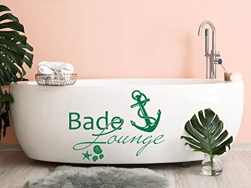 GRAZDesign Wandtattoo Bade-Lounge Anker Badezimmer-Tattoo maritim Muscheln und Seestern / 40x30cm / 049 königsblau
