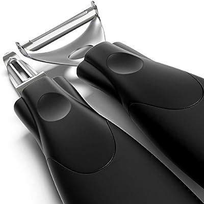 bobuCuisine Super Peelers - Stainless Steel Double-edged Blades - Triple Your Peeling Speed - Sharp Y Shaped Potato PeelerÐ Pack of 2
