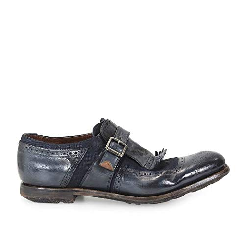 Church's Herren Eog0019qgf0anr Blau Leder Monk-Schuhe