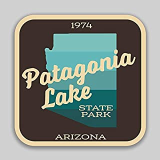 JMM Industries Patagonia Lake State Park Arizona Vinyl Decal Sticker Car Window Bumper 2-Pack 4-Inches by 4-Inches Premium Quality UV Protective Laminate SPS589