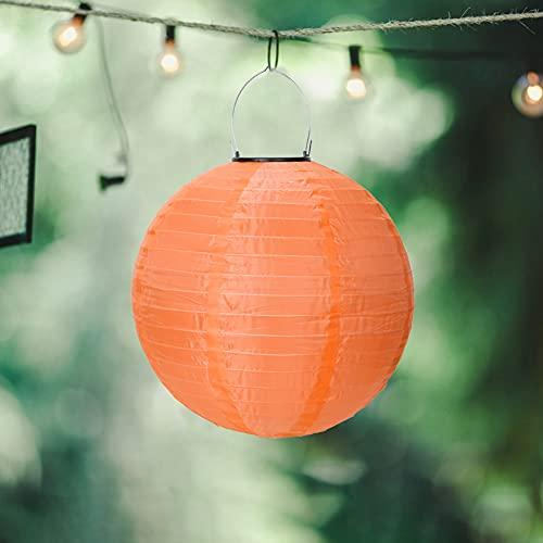 Farolillo solar LED de 20,2 cm para exteriores, resistente al agua, colgante de nailon, reutilizable, para decoración de jardín, árbol de Navidad