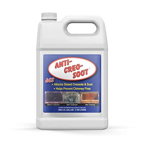 Liquid Creosote Remover - Anti-Creo-Soot | 1 Gallon Bottle | Removes Dangerous Glazed Creosote and Soot