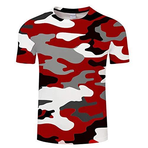 T Shirt Red Camouflage Clothing Printed Tshirt Men Women Short Sleeve T-Shirt Top T Shirt Funny Tees Asianxl Tx519