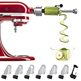 Bestand Spiralizer Plus Attachment (7 Blades) Compatible with KitchenAid Stand Mixer, Comes with Peel, Core and Slice, Vegetable Slicer (Not KitchenAid Brand Spiralizer)