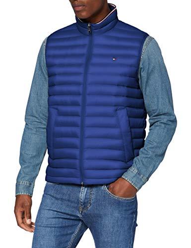 Tommy Hilfiger Herren Packable DOWN Vest Jacke, Blau (Sodalite Blue 493), Medium (Herstellergröße:M)