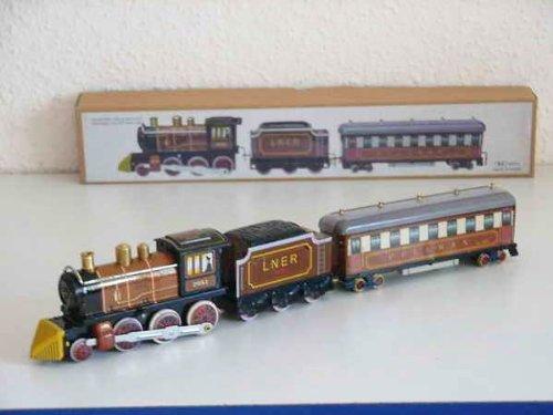 Blechspielzeug zum Aufziehen tin toys wind up-Spielzeug Eisenbahn schwarz und braun(Einfuhr aus Hong Kong )