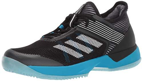 adidas Women's Adizero Ubersonic 3 Clay, Black/White/Shock Cyan, 11 M US