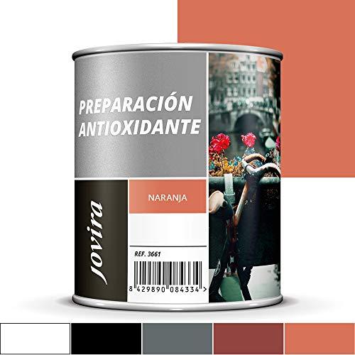 IMPRIMACION ANTIOXIDANTE METAL, Pintura tratamiento superficies de metal anti oxido. Imprimación uso general, Protección total. Anti oxidante. (750ML, NARANJA)
