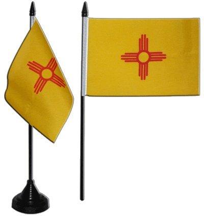 Tischflagge / Tischfahne New Mexico + gratis Aufkleber, Flaggenfritze®