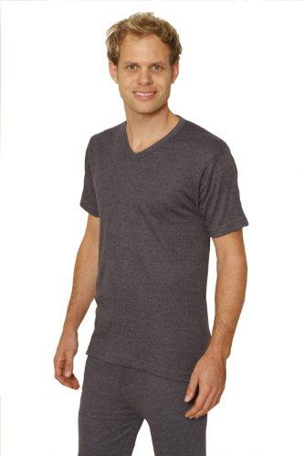 Octave – 6 Pack Homme sous-vêtement Thermique Manches Courtes col en V T-Shirt/Top [Charbon, XX-Large]