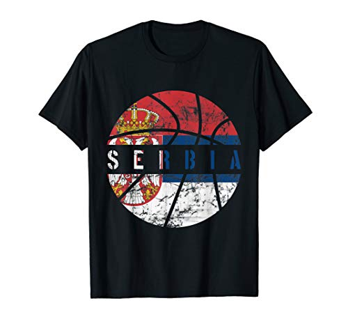 Serbia Basketball Jersey Gift Flag for Fans and Lovers T-Shirt