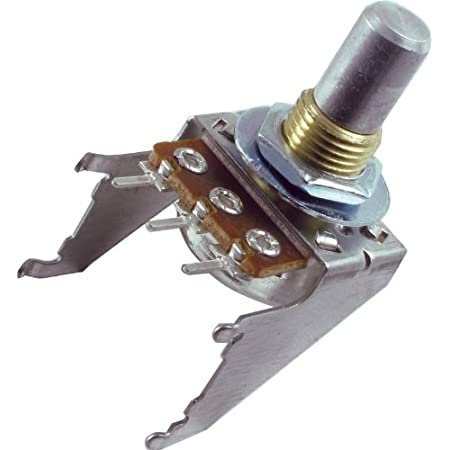 Potentiometer 100K Reverse Audio 16mm Snap-In D Shaft with Bracket