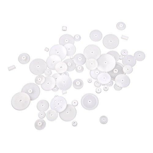 Sodial Sonline Set aus Kuststoffzahnrädern, 58Stück, Modul 0,5