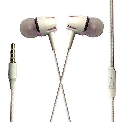 Wired Earphones 3.5mm Stereo Headphone in-Ear Music Sport Headset with Roes Microphone
