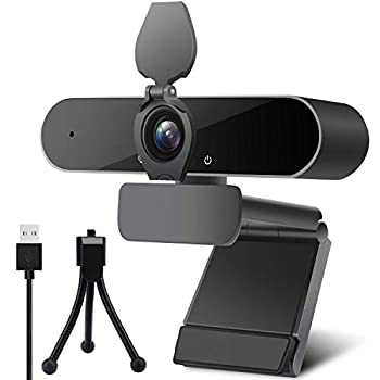 Webcam with Microphone Portable 2K 1440P HD Wide Angle Steaming Web Camera for Desktop Computer Laptop with Tripod Great for Video Calling Conference Recording and Gaming
