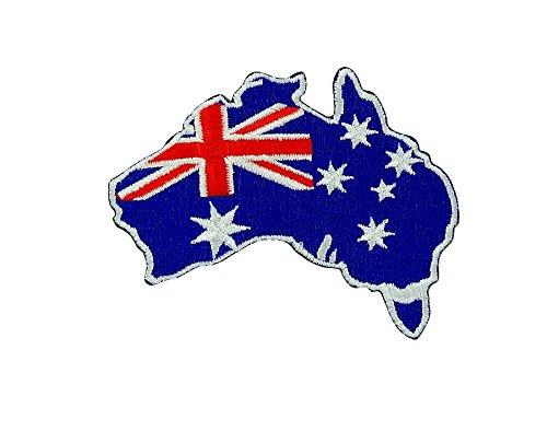 Akachafactory Gesticktes-Aufnäher Patch Backpack australien-Flagge Australiens zum Aufbügeln