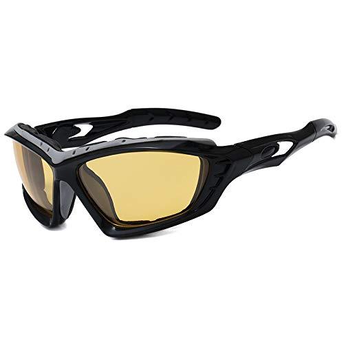 JFSZZ Lentes Montar Bicicleta de Carreras de Ciclismo Gafas de Sol Hombres Mujeres Deportes de montaña Bicicleta de Carretera al Aire Libre de los vidrios Gafas de MTB (Color : Black Yellow)