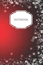 Notebook: Christmas Themed Red White Blank Lined Gratitude To Do List Santa Notebook Gift for Women Girls Mom Teenagers Adults Wide Ruled 100 Page The Best Writing Note Book Organizer