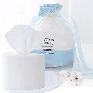 immagine di Asciugamani Monouso 100% Cotone Non-tessuto Lusso Lavabili Tessuto di Cotone Facciale in Cotone per la Pulizia del Viso usa e getta, salviette per il trucco del viso, 100pezzi in 1 borsa