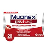 Mucinex Sinus-Max Severe Congestion & Pain Relief Maximum Strength Caplets- Sinus Decongestant,...